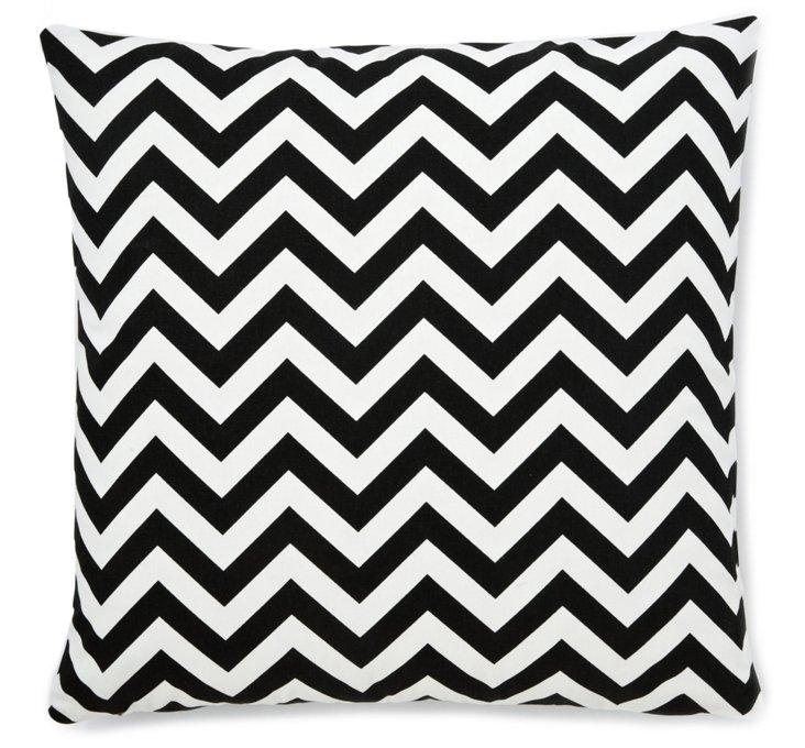 Chevron 22x22 Pillow, Black