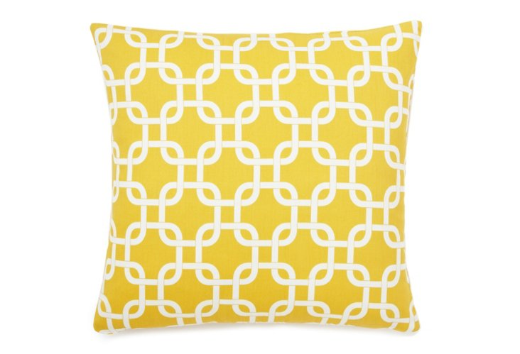 Lattice 18x18 Pillow, Yellow