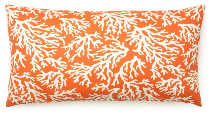 Coral 14x24 Outdoor Pillow, Orange
