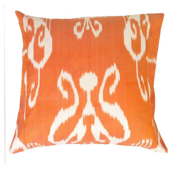 Citrus 20x20 Silk Pillow, Orange