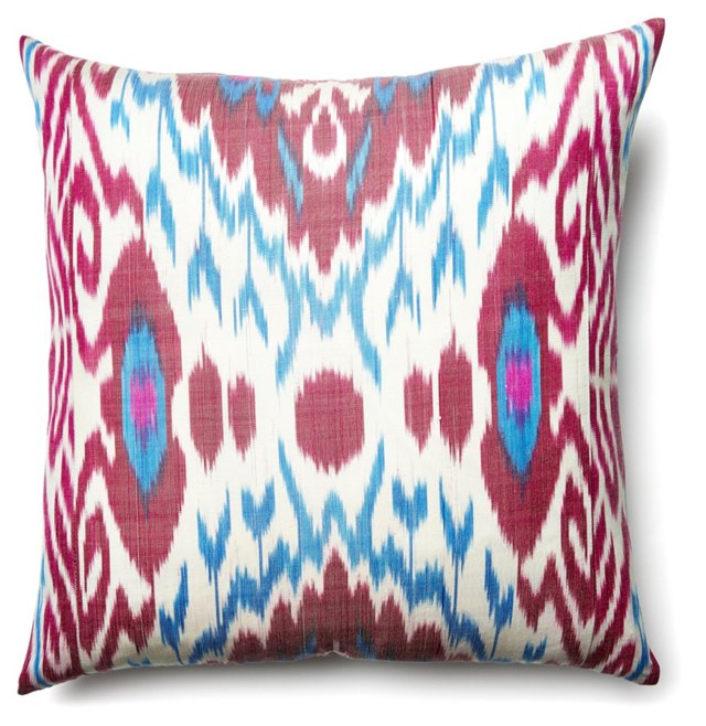 Harvest 20x20 Silk Pillow, Berry