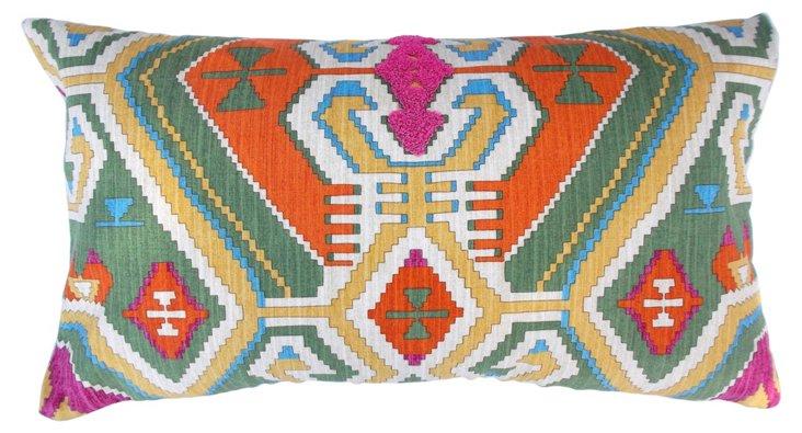 Aztec 14x24 Cotton Pillow, Multi