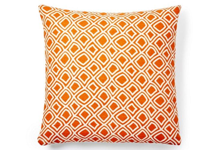 Dynamic 18x18 Pillow, Orange