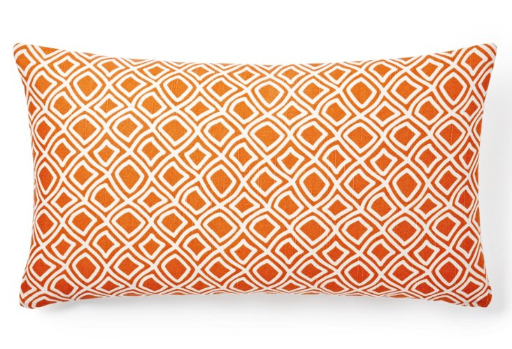 Dynamic 14x24 Pillow, Orange
