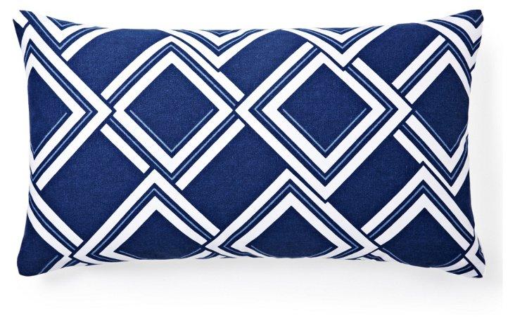 Rhombus 14x24 Pillow, Blue