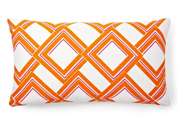 Rhombus 14x24 Pillow, Orange
