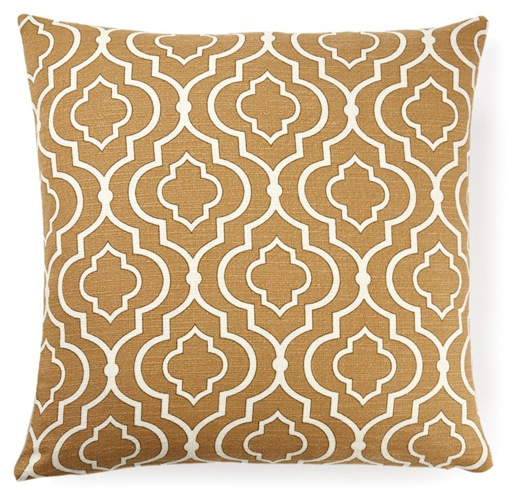 Lattice 18x18 Pillow, Brown