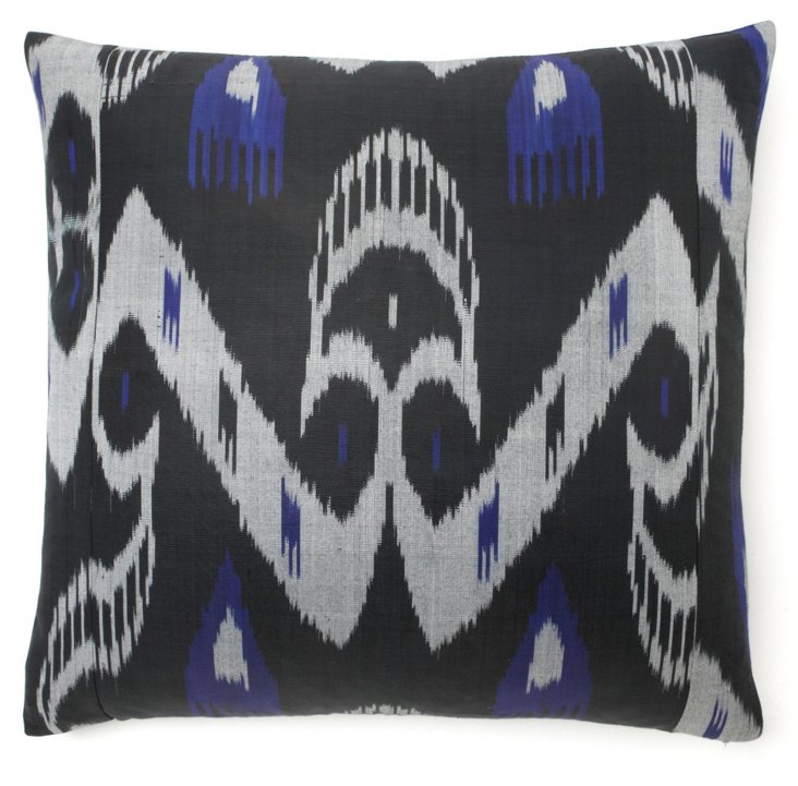 Twilight 20x20 Cotton Pillow, Black