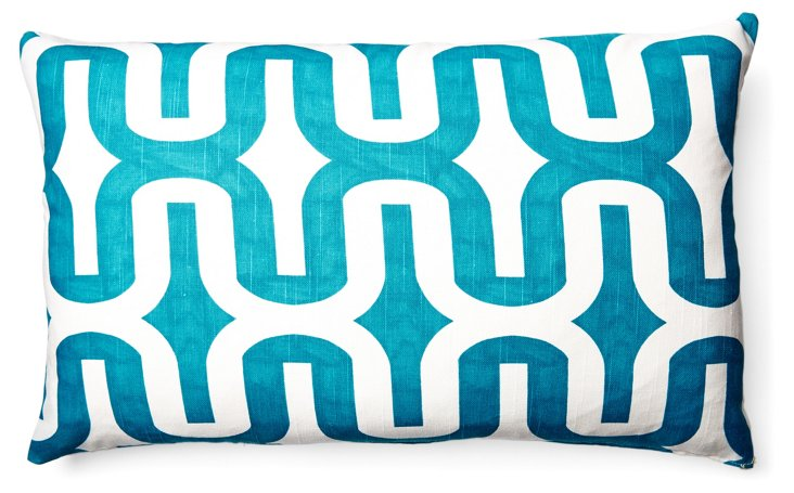 Studio 14x24 Cotton Pillow, Blue