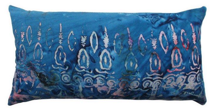 Batik 12x22 Pillow, Dark Blue