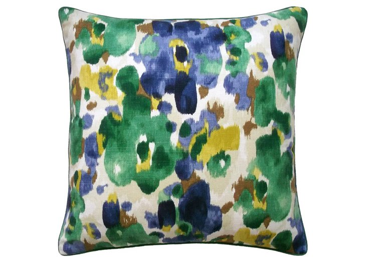 Romantic 18x18 Cotton Pillow, Multi