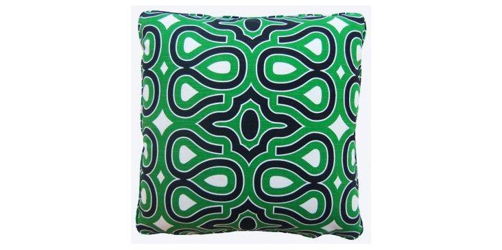 Bardot 18x18 Cotton Pillow, Green