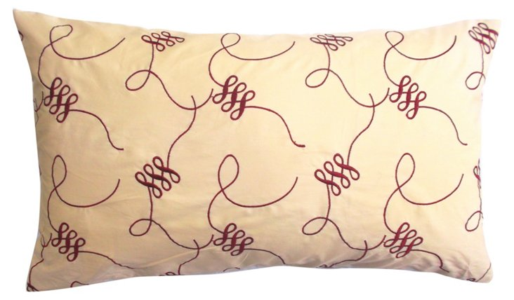 Vibrant 14x24 Cotton Pillow, Red