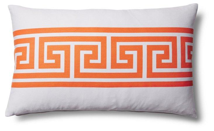 Greek Key 14x24 Outdoor Pillow, Orange