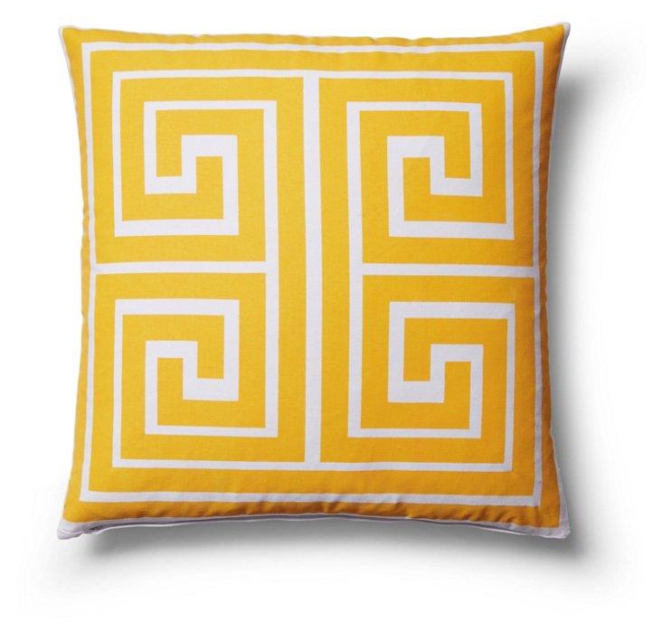 Warren 18x18 Outdoor Pillow, Yellow