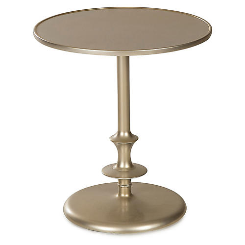 Colton Side Table, Silver Leaf