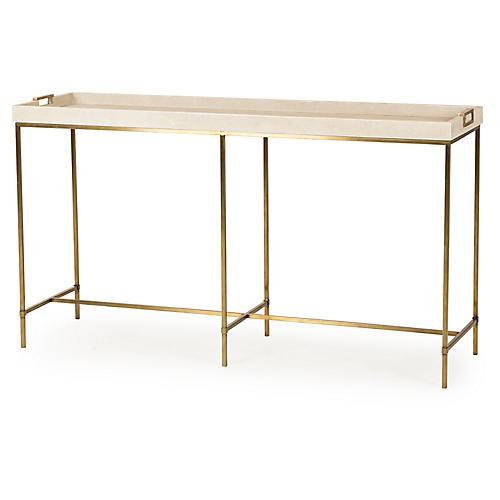 Lexi w/Tray Console, Ivory