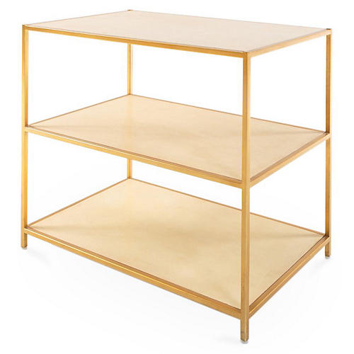 Erica Tiered Side Table, Gold