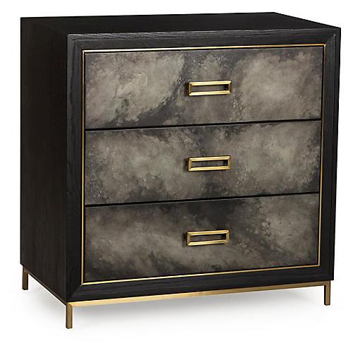 Levi 3-Drawer Dresser, Black/Gray