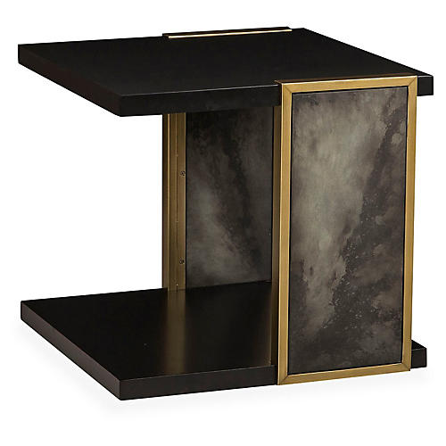 Knox Side Table, Black/Gray