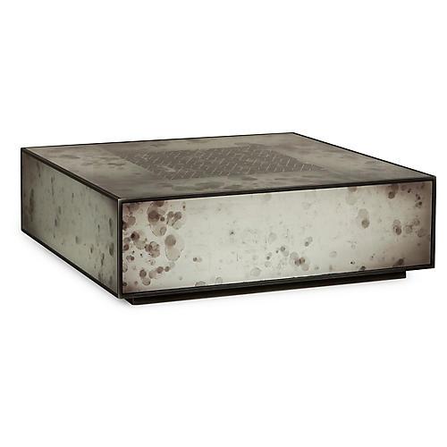 Mercury Coffee Table, Silver/Black