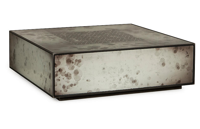 Mercury Coffee Table - Silver/Black - Maison 55