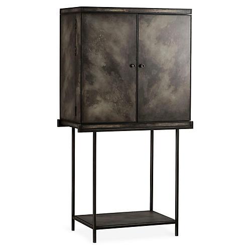Zachariah Bar Cabinet, Black/Gray