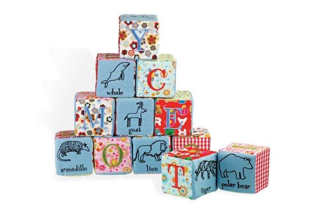 Calico Collection Alphabet Block Set