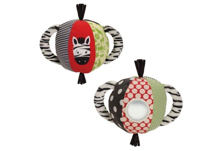 Tickly Toy Zebra Activity Ball