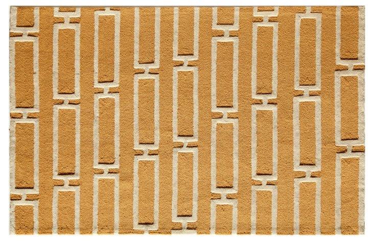 Astor Rug, Yellow/Ivory