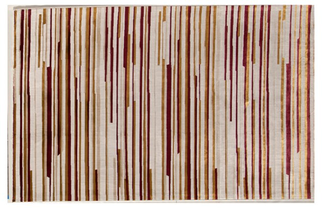 "7'10"" x10'10"" Wooster Rug, Cream/Red"