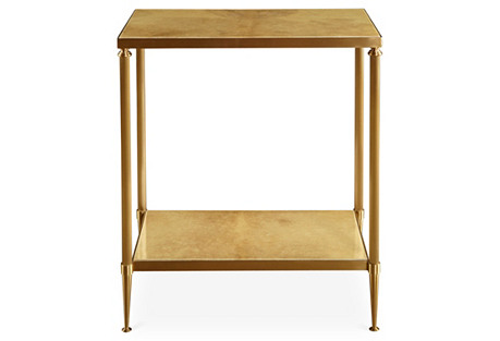 Vellum Side Table, Gold