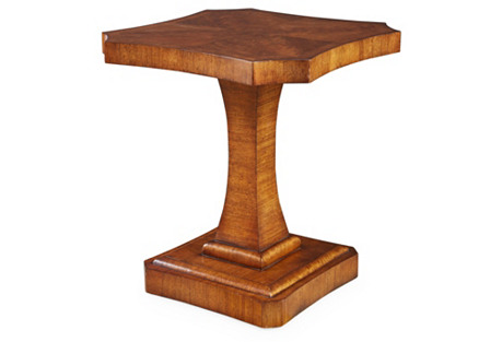 Pedestal Side Table, Caramel