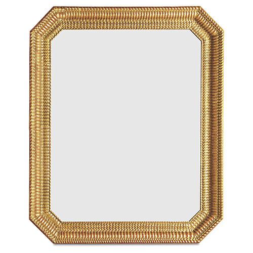 Rippled Wall Mirror, Gold
