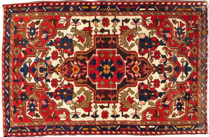 """Early-20th-C.Persian Malayer, 4' x 2'8"""""""
