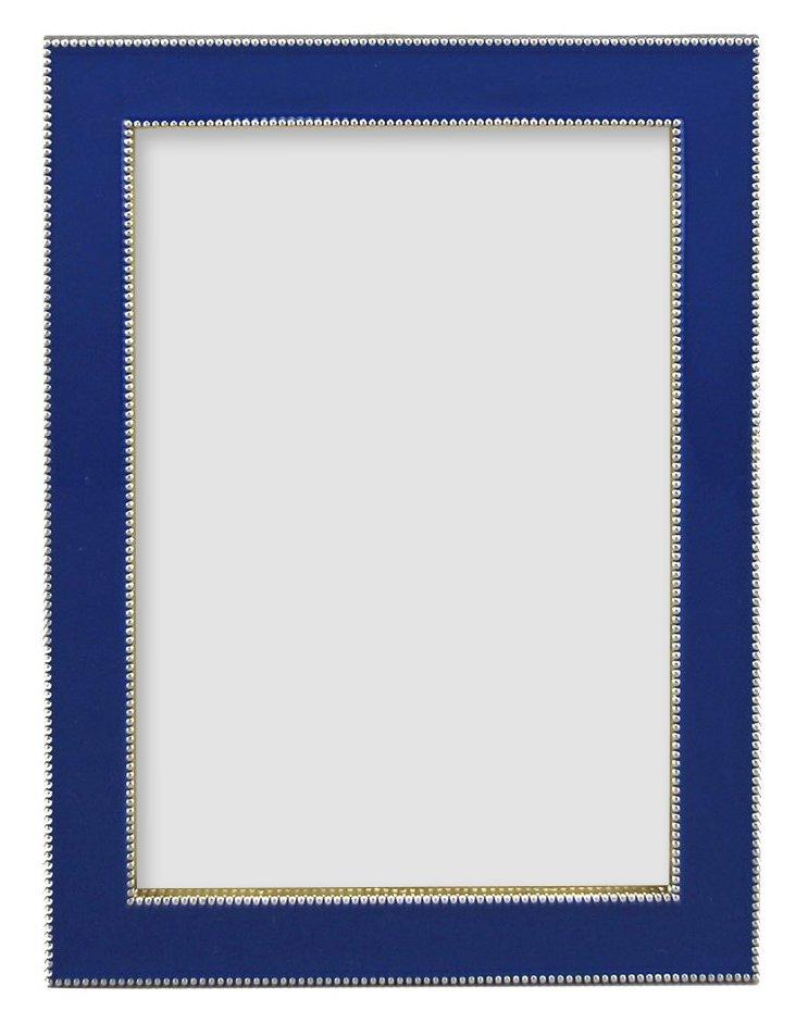 Beaded Frame, 5x7, Cobalt