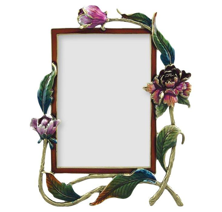 Annabelle Frame, 3x5, Green/Pink