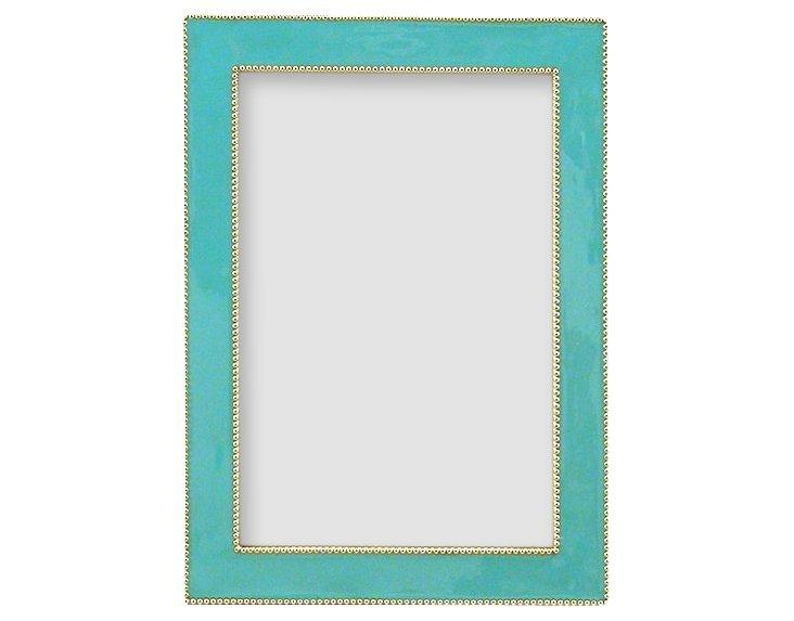 Beaded Frame, 4x6, Blue