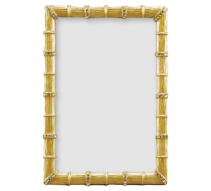 Bamboo Jeweled Frame, 4x6, Gold