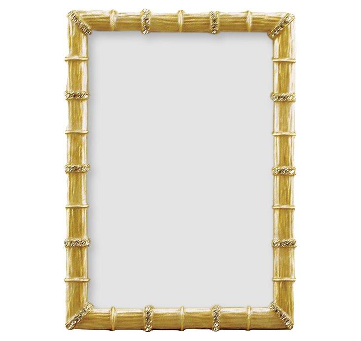 Bamboo Jeweled Frame, 5x7, Gold