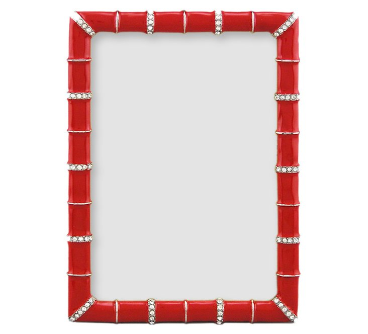 Bamboo Jeweled Frame, 5x7, Red