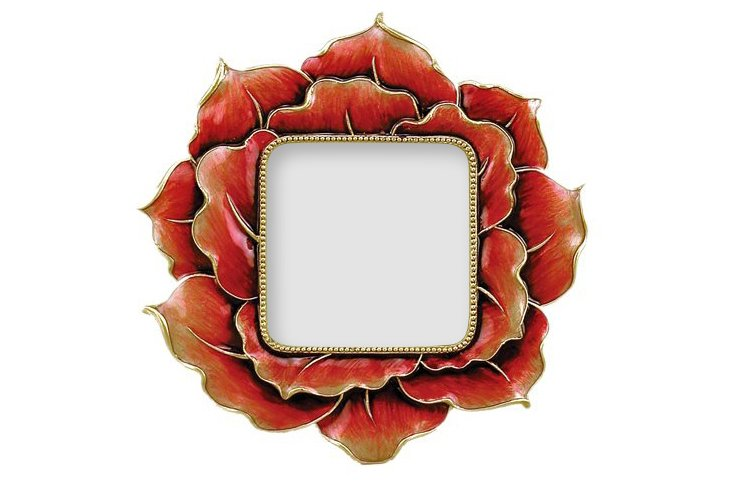 Floral Beauty Frame, 3x3, Red