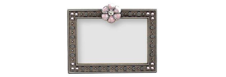 Petite Flower Frame, 3x2, Pink