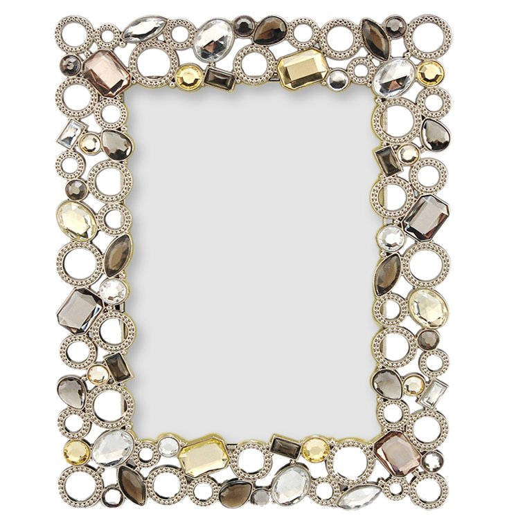 Beaded Circles Frame, 5x7, Pewter