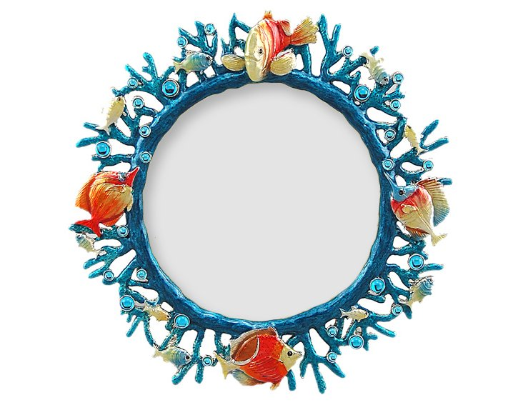 Fish Coral Frame, 4x4, Blue