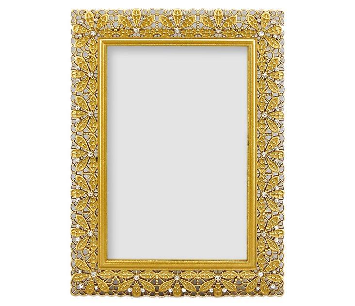 Floradora Frame, 4x6, Gold