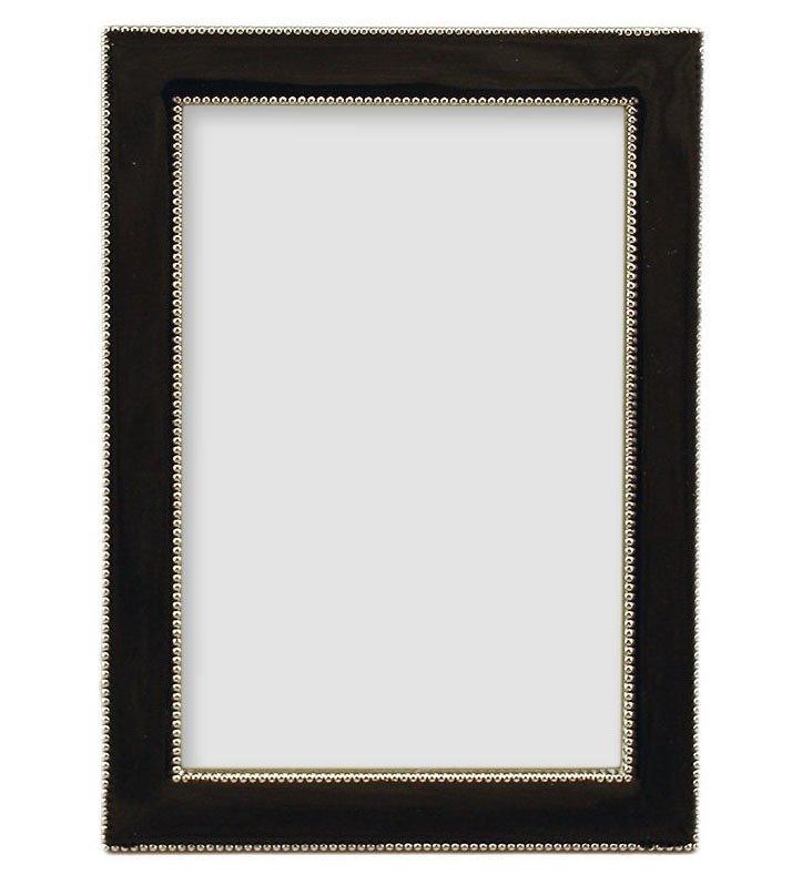 5x7 Beaded Frame, Charcoal