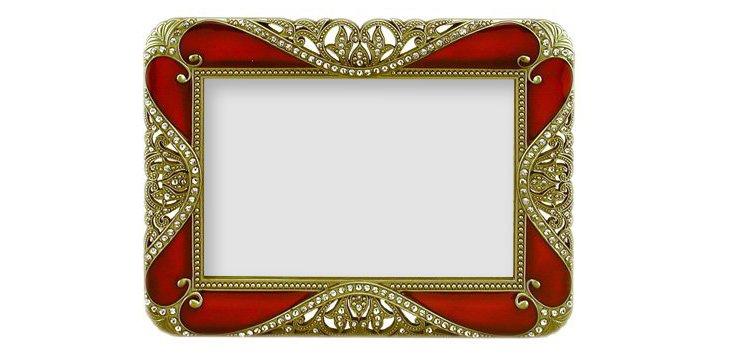 Rococo Frame, 4x6, Burgundy