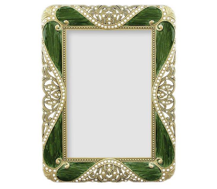 Rococo Frame, 4x6, Green