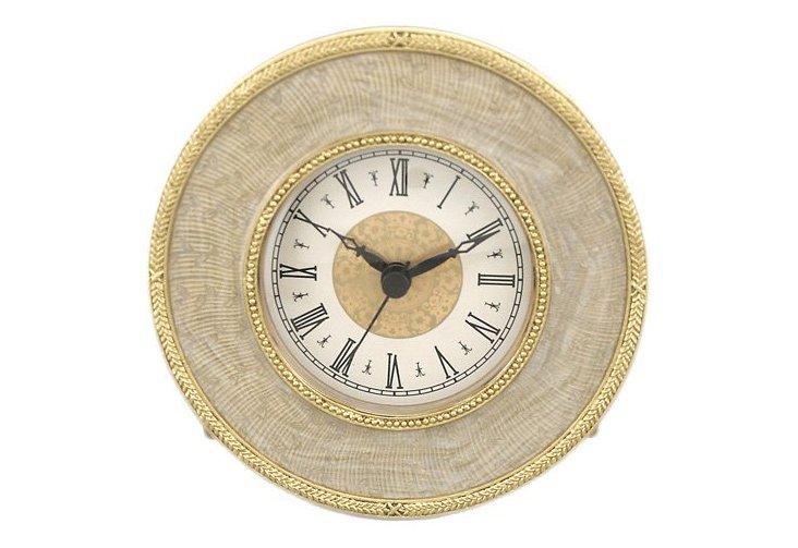 "5"" Russian Clock, Gold"